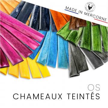 Os de chameau teintés en France