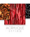 Acrylic ribbed