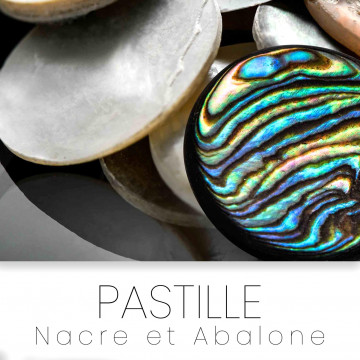 Pre-cut inlays circle mother of pearl abalone
