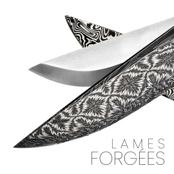 Forged blades and damask bars by master blacksmiths