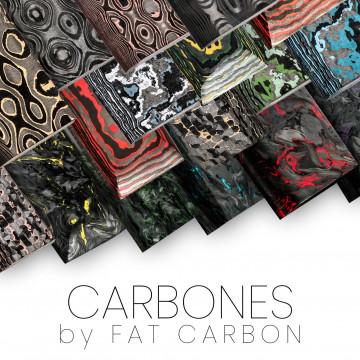 Carbones originaux by FAT CARBON - couteaux