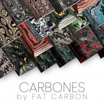 Carboni originali di FAT CARBON - coltelli