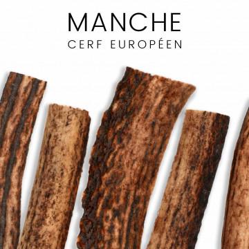 Manches de cerf européen pour couteaux