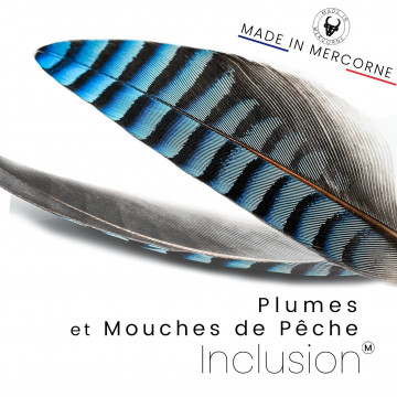 Feather inclusions - French manufacturing