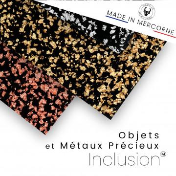 Inclusions d'objets et de métaux précieux - Fabrication française