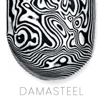 Barre de Damasteel, damas aux inspirations nordiques