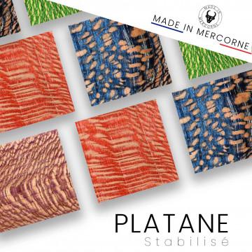 Platane stabilisé : Fabrication française – vendus en manches et blocs