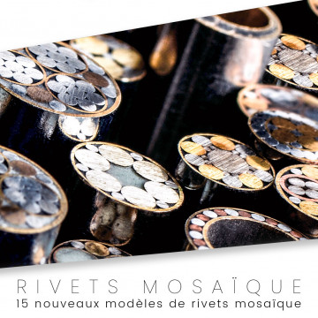 Mosaic rivet for cutlery