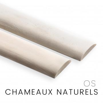 Os de chameau : naturel et blanchi – couteaux